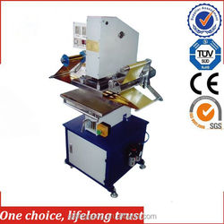 TJ-9 car license plate stamping hot foil machine with pneumatic & power source