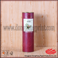 Wine packaging printed paper wrapping metal gift box