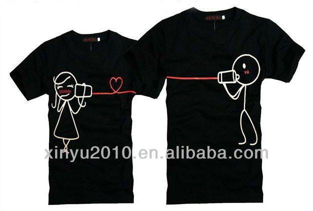 Lovely Design Couple T Shirt