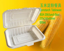 disposable corn starch 800ml food container