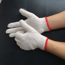 linyi city bleached cotton gloves ,/white cotton safety working gloves/hand gloves