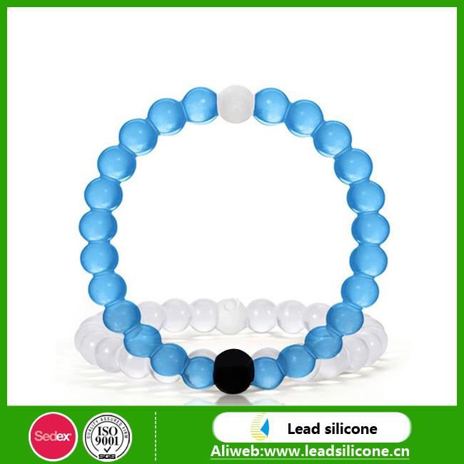 popular decorate silicone bead bracelet fashion novelty