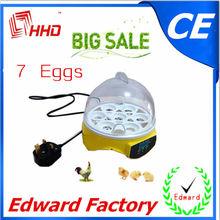 2014 más barato& más reciente el certificado del ce pequeña automática de la bandeja de huevos para incubar( 7 huevos) ew9-7