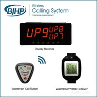10 Call Buttons+1 display receiver+2 watches / wireless waiter service call button systems for retaurant