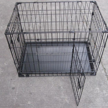 Black Metal Wire Pet Dog Cages Factory