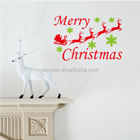 ZOOYOO colorful christmas stickers popular decorations fashionable window stickers (Xmas26)