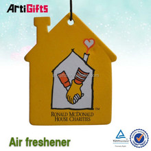 Free samples green house decoration branded perfume paper car air fresheners