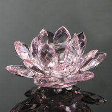Bonita flor de cristal para favores de boda