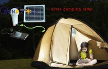 LED portable camping lighting mobile solar power led outdoor lamps