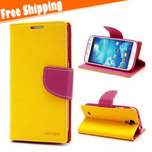 Flip wallet PU Leather Flip Hard Case Cover Card Holder Fashion Cases for Samsung galaxy S4