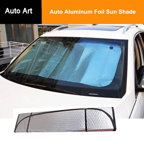 pliable voiture pare soleil de pare brise fen tre pare auto aluminium foil sun shade. Black Bedroom Furniture Sets. Home Design Ideas