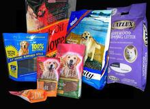 Stand Up Pet Food Packaging / Dog Food Bag Custom With Zip Lock