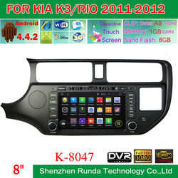 """1024*600 8"""" Screen Built-in Wifi DVR Android 4.4 Car Stereo for KIA K3/Rio 2011-2012 with Free Map, Trade Assurance Supplier"""