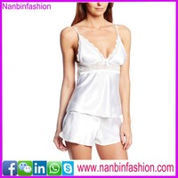 Wholesale white strapped backless sexy nighty dress for women