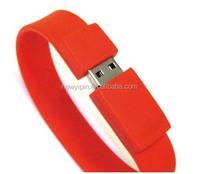 Silicone Wrist Band USB 2.0 Memory Stick Flash pen Drive 4GB 8GB 16GB 32GB