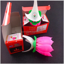 lotus candle single layer auto open up birthday candles +0086-15032098633