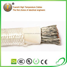 silicone rubber insulated copper wires braided screen control cables