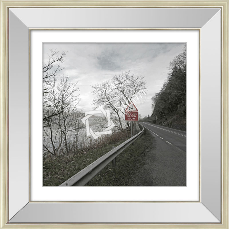 Modern Black And White Photography Art Mirror Glass Painting - Buy ...