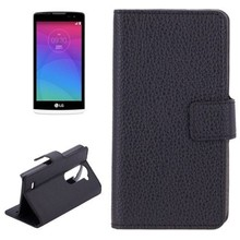 OEM Service Litchi Texture Flip Leather Case Cover for LG Leon C40 Case