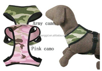 Firm camouflage jeans pet harness for small and medium puppy