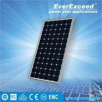 EverExceed High Efficiency 65w Monocrystalline Solar Panel for solar street light system with solar charge controller