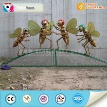 Customized life-size outdoor fiberglass cartoon