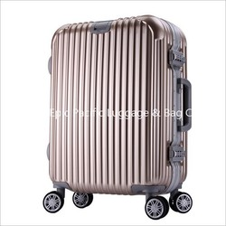 Good Quality Lined Hard PC spinner luggage, trolley case, trolley bag