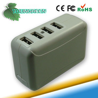 Universal 4 Port USB Wall Home Charger Adapter for iPhone 5 4S iPad 4
