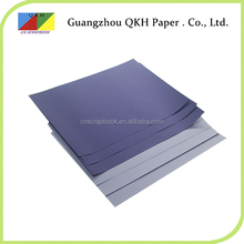 China wholesale craft product a4 colorful leather grain paper