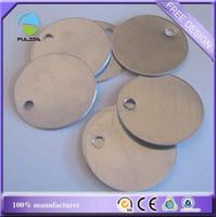 custom circle round aluminum sheet brushed stamped blank metal dog tags