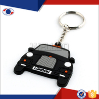 Custom wholesale PVC rubber key chain
