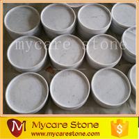 Professional custom Italy Carrara white marble tray