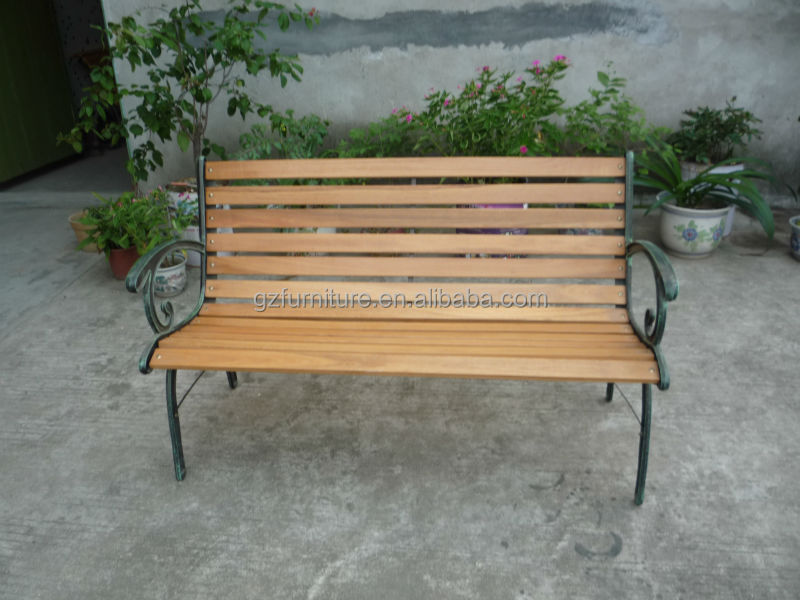Outdoor Cast Iron Garden Bench Buy Wooden Slats With Cast Iron Legs 3 Seate