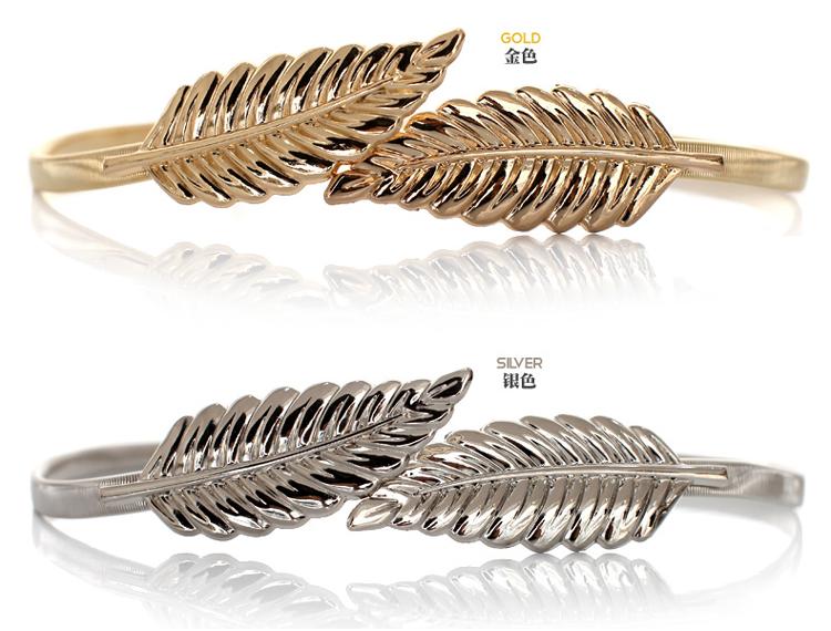 Hot Sales summer metal waist Style Women Belts Vintage Elastic Leaf Design05.jpg
