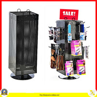 metal Small pegboard spinning point of sale counter top display rack