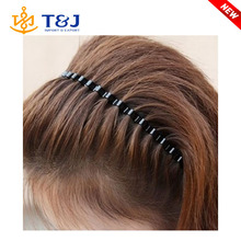 >>>>Top sale unisex black metal wavy fashion hair accessories /hair bands for men/