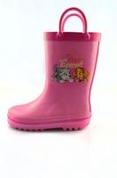 Kids Rain Boots, Cute Children Faux Fur Lined Boots