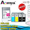 PFI-102 PFI102 PFI 102 wide format compatible ink cartridge with chip for canon IPF605 IPF510 IPF610 IPF750 130ml