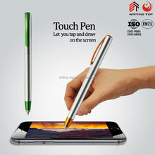 Silvering thin plastic touch ballpoint pen
