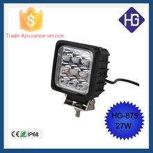 4x4 accessories 27W IP68 spot/flood led work light 12v Jeep Boat Off-road SUV