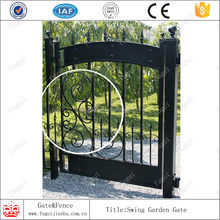 Forged iron metal gate,small iron gate,galvanized iron metal gates designs