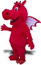 Red Dragon Mascot with wings to grow