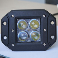 Flush Mount 12W LED Work Light More Brighter Offroad cube 4D LED Driving Lamp