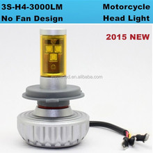Newest 6000lm Motocycle head H4 Auto led bulb