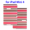 Hot selling Stripe Pattern leather tablet case for ipad mini 4 accessory