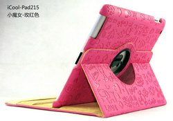 for apple iPad 2 smart rotatable Leather Case