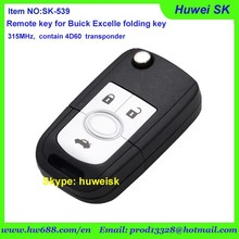 Buick Excelle folding key with activate button , 315MHz contain 4D60 chip