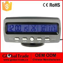 Car Digital Clock In-and-out Door Thermometer. A1297.
