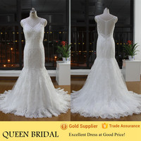 Real Pictures White Lace Modern Mermaid Wedding Dresses Wholesale from China