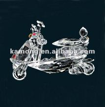 Optical glass classics gift and craft crystal motorcycle for souvenir gifts
